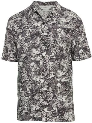 Eleven Paris Woven Japan-Print Short-Sleeve Button-Front Shirt