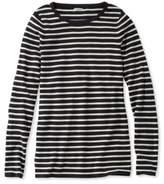 L.L. Bean Women's Soft Ribbed Striped Sweater