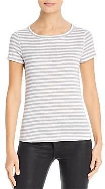Three Dots Breckenridge Striped Short-Sleeve Tee