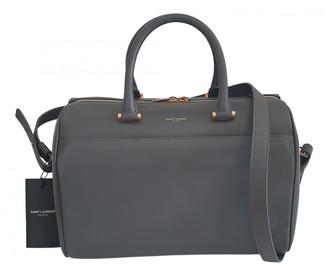 Saint Laurent Duffle Grey Leather Handbags