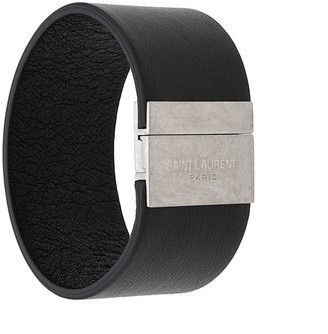 Saint Laurent embossed logo cuff bracelet