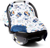 Navy Into The Woods Car Seat Canopy
