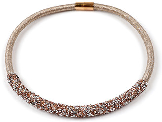 Amrita Singh Women's Necklaces Champagne - Champagne Lurex Collar Necklace