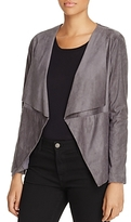 Cupcakes And Cashmere Ellis Draped Faux Suede Jacket