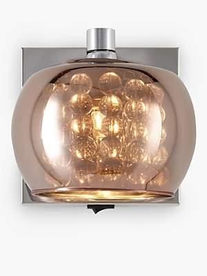 John Lewis & Partners Stella Glass Wall Light, Copper