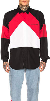 Vetements Tracksuit Shirt in Black & Red & White | FWRD