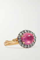 Thumbnail for your product : Larkspur & Hawk Posy 14-karat Gold, Tourmaline And Diamond Ring - 6