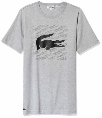 Lacoste Men's Sport Short Sleeve Reflective Graphic T-Shirt