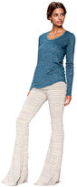 Saint Grace Moby Stripe Ashby Pant In Cream Stripe