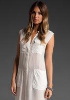 T by Alexander Wang Silk Chiffon Shirt Dress