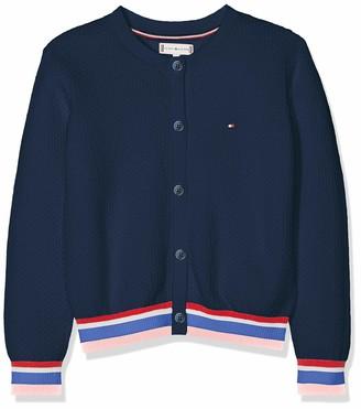 Tommy Hilfiger Girl's Essential Stripe Rib Cardigan Jumper