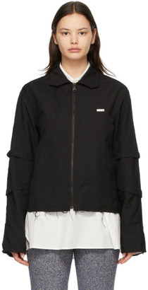 Ader Error Black Crinkled Track Jacket