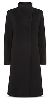 Cinzia Rocca Convertible Collar Asymmetric Coat