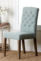 Light Blue Linen Tufted Dining Chair