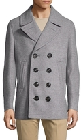 Burberry Kirkham Wool Double Breasted Peacoat