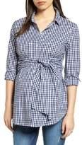 Isabella Oliver Lindsay Check Maternity Shirt