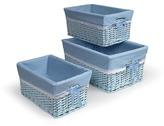 Badger Basket Blue Three Basket Set with Liners