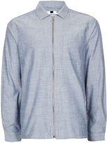 Topman Men's Chambray Zip Through Overshirt