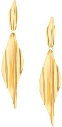 Mercedes Salazar Long Textured Earrings