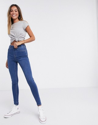 New Look lift & shape jegging in blue