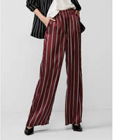 Express mid rise stripe wide leg pant