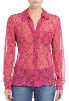 Diane von Furstenberg Lorelei Two Printed Silk Blouse