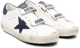 Golden Goose Kids Superstar distressed detail sneakers