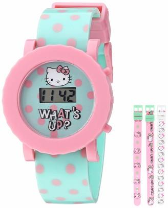 Hello Kitty Girls' Quartz Watch with Plastic Strap