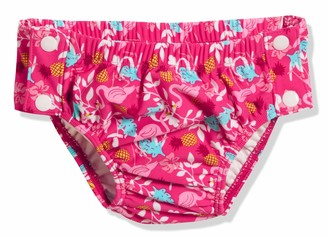 Playshoes Baby Girls' UV Sun Protection Swim Diaper Nappie Flamingo with Button Closure