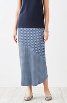 J. Jill Mixed-Print Seamed Maxi Skirt