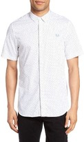 Fred Perry Men's Extra Trim Fit Polka Dot Sport Shirt