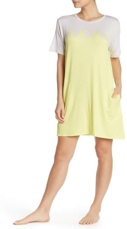 DKNY Colorblock Short Sleep Dress