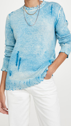 R 13 Faded Cashmere Crew Neck Sweater