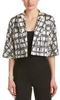 Josie Natori Silk-blend Jacket.