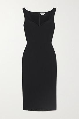 Alexander McQueen Crepe Midi Dress - Black