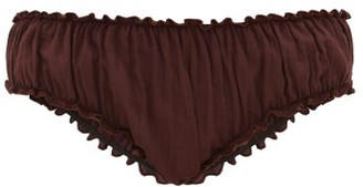 Loup Charmant Bloomer Organic-cotton Briefs - Dark Purple