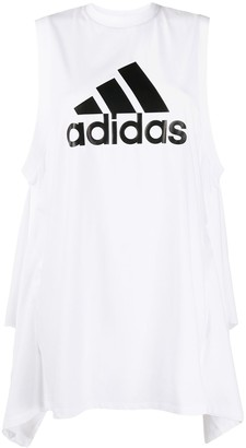 adidas x HYKE draped detail vest top