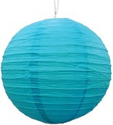 Ibacrafts Decorative Blue Paper Lampshade Christmas Party Hanging Lantern Festive Decor