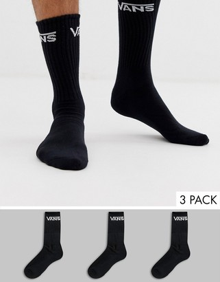 Vans Classic 3 pack socks in black