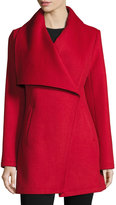 Laundry by Shelli Segal Double-Face Wool-Blend Coat, Red