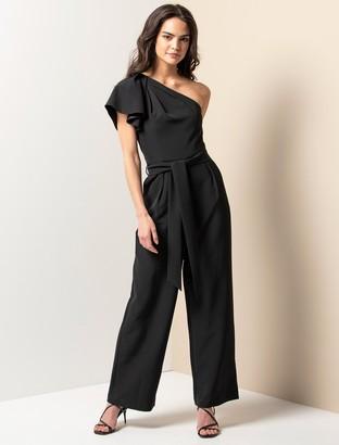 Forever New Cassandra One-Shoulder Jumpsuit - Black - 10