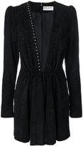 Saint Laurent plunge mini dress