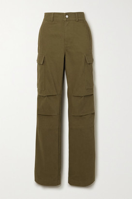 Alexander Wang Cotton-twill Cargo Pants - Army green