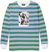 Stüssy - Laura Striped Cotton T-shirt