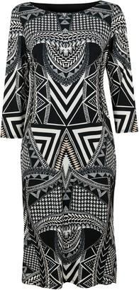 Wallis Monochrome Aztec Print Midi Dress