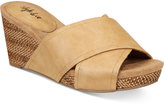 Style&Co. Style & Co Jillee Crisscross Slide Wedge Sandals, Only at Macy's Women's Shoes
