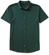 Giorgio Armani Solid Short-Sleeve Woven Shirt