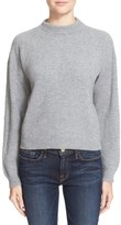 Frame Rib Knit Crop Cashmere Sweater