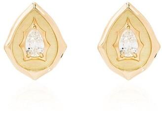 Jade Trau 18kt Gold Diamond Stud Earrings