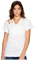 LnA Pine Cut Out Tee Women's T Shirt